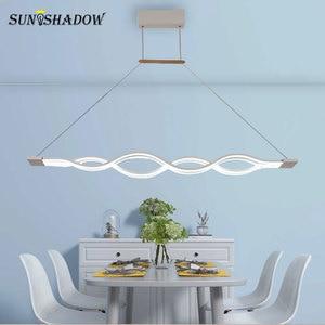 Image 5 - Asılı lamba Modern Led avize oturma odası yemek odası için mutfak parlaklık LED tavan avize aydınlatma fikstür armatürleri