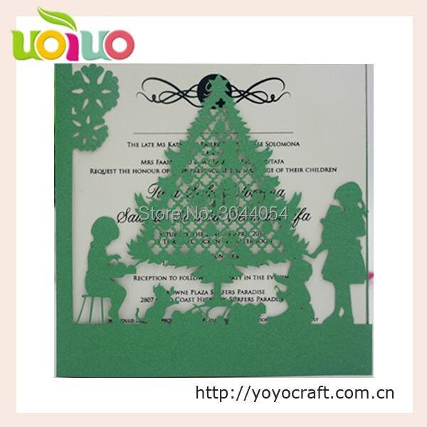 decoration de noel carte d invitation unique decoupee au laser pour arbre de noel carte de vœux carte d invitation personnalisee