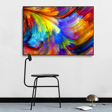 CHENFART Large Abstract Art Canvas Oil Painting Cloud Print Colorful Wall Picture Living Room Baby Decoration Home
