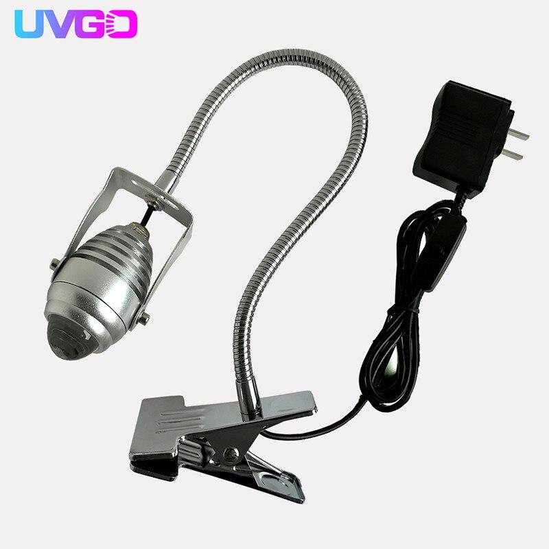 3 Вт 405нм длина волны ультрафиолетовая УФ сушилка Светодиодная УФ высокомощная лампа для отверждения клея зеленая масляная фиолетовая ламп...