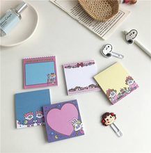 SIXONE 50 Sheets Cute Cartoon Girl Sticky Note ins Creative Notebook Portable Pocket Word Book stationery kawaii memo pad