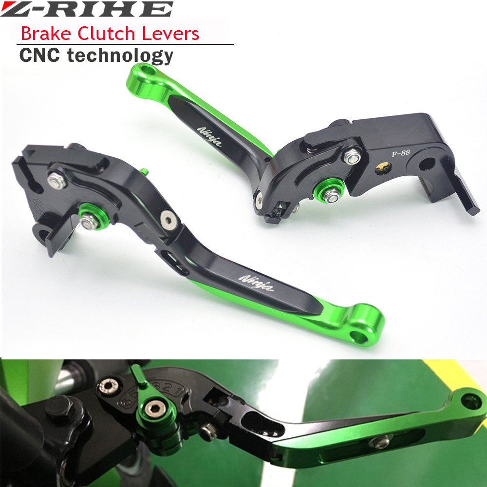 For Kawasaki Ninja 250 / 300 2013-2015 NINJA 300r Motorcycle Brake Levers adjustable Folding Bike extensible CNC Clutch Levers for kawasaki ninja 250 ninja250 2008 2015 ninja 300 ninja300 2013 2015 motorcycle aluminum short brake clutch levers black