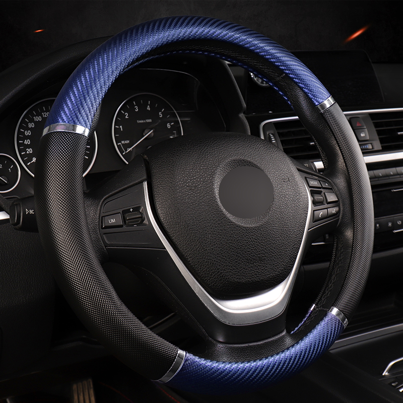 DERMAY Universal Car Steering Wheel Cover Artificial Leather 5 Colors Comfortable Non-slip Automobile Steering-Wheel Car Styling