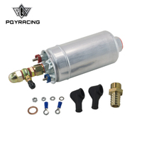 PQY External Fuel Pump 0580 254 044 FUEL PUMP WITH BANJO FITTING KIT HOSE ADAPTOR UNION 8MM OUTLET TAIL PQY FPB044R