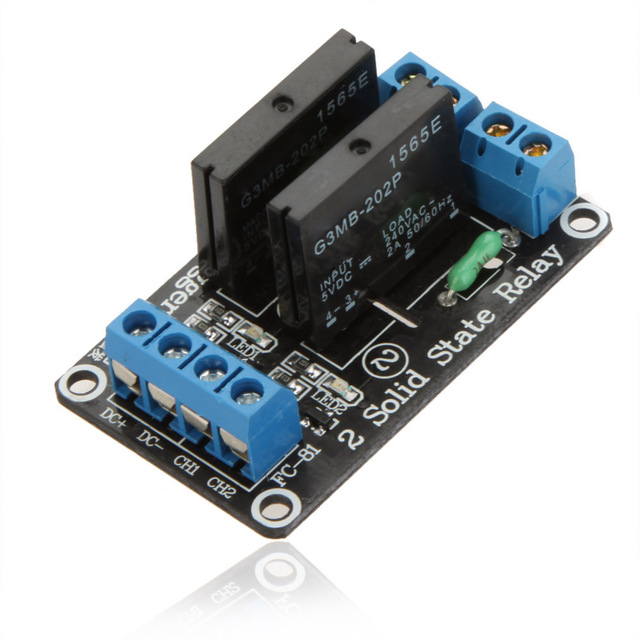 5V 2 Channel Low Level Trigger Solid State Relay SSR Module Relay