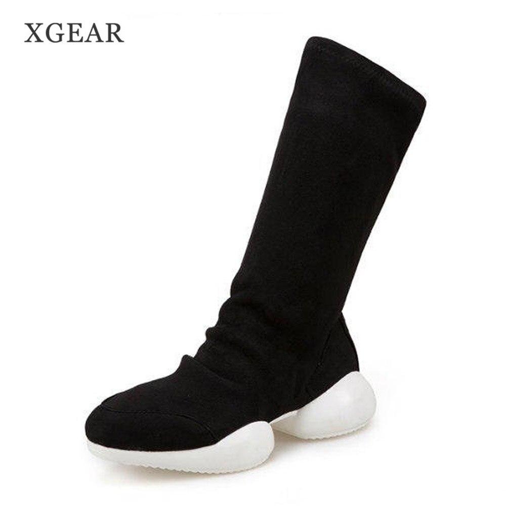 achetez en gros noir tricot bottes en ligne à des grossistes noir