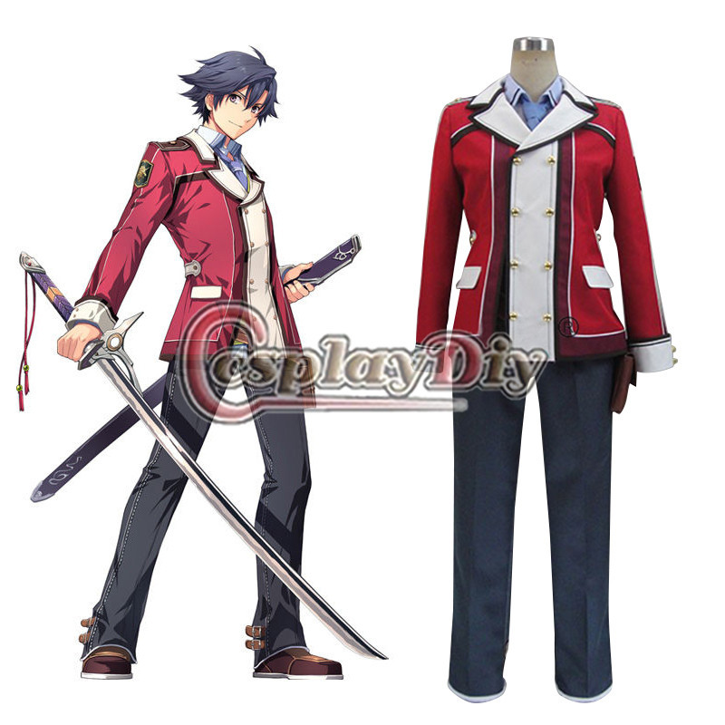 Cosplaydiy The Legend of Heroes: Sen No kiseki Rean Schwarzer Cosplay Costume Adult Halloween Clothing Custom Made D0803