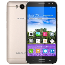 Original AMIGOO X18 3G 5.5 Inch Smart Phone Android 5.1 MTK6580 Quad Core Mobile Phone 1.3GHz 8GB Dual Cameras Cellphone