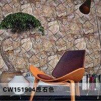 Vintage 3D Stone Rock Wallpaper Waterproof PVC Wallpapers 3D Wall Panels Vinyl Wood Wallpaper Roll