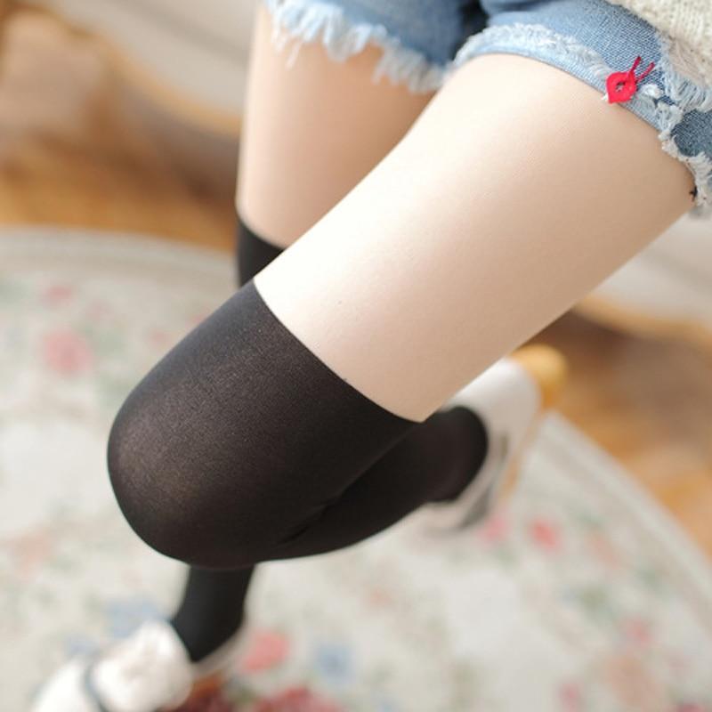 Womens Stockings Fake Tube Stitching Sexy Stockings Thin Tights Pantyhose Slim Bottoming Anti-hook Pantyhose Collant Femme