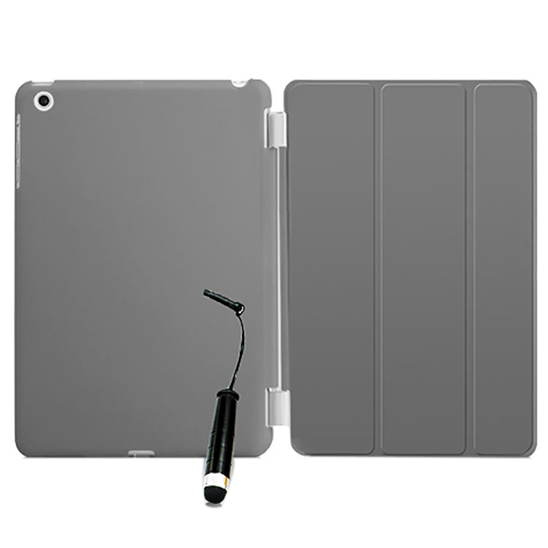 New Smart Stand Magnetic Leather Case Cover For Apple iPad Mini 1 2 & 3 colour:Grey for apple ipad air 2 pu leather case luxury silk pattern stand smart cover