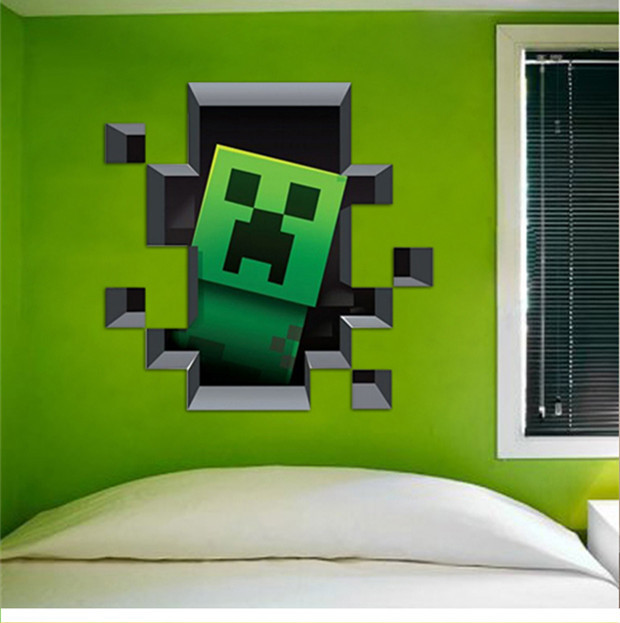 Minecraft Game Enderman Wall Sticker