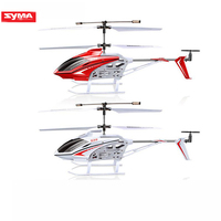 Original SYMA S39 RC Helicopter 3 channel equipped with gyro LED light remote control distance 100m children gift red / white