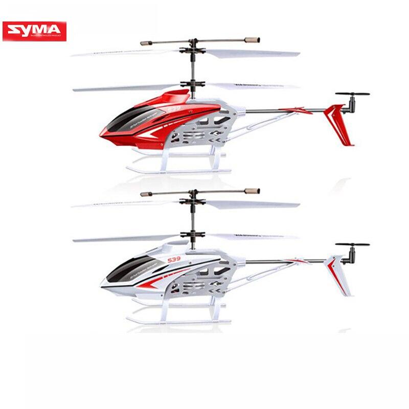 Original SYMA S39 RC hélicoptère 3 canaux équipé de gyroscope lumière LED télécommande distance 100m enfants cadeau rouge/blanc