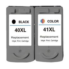 2PK Replacement Ink Cartridge PG-40BK/CL-41C For Cannon PIXMA IP1180/1200 PIXMA MP140/145 PIXMA MX300/308 No.164 pixma ts704
