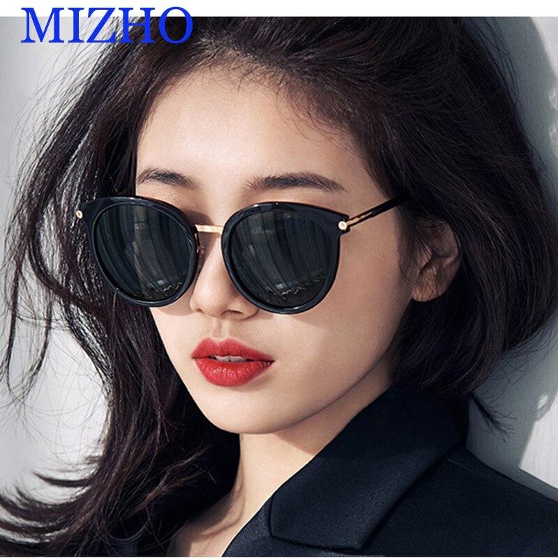 MIZHO Nano Vakuum Beschichtung Hohe Qualität Spiegel Sonnenbrille Für Frauen Polarisierte Oval UV400 HD Objektiv Sonnenbrille Cat eye Runde 2020
