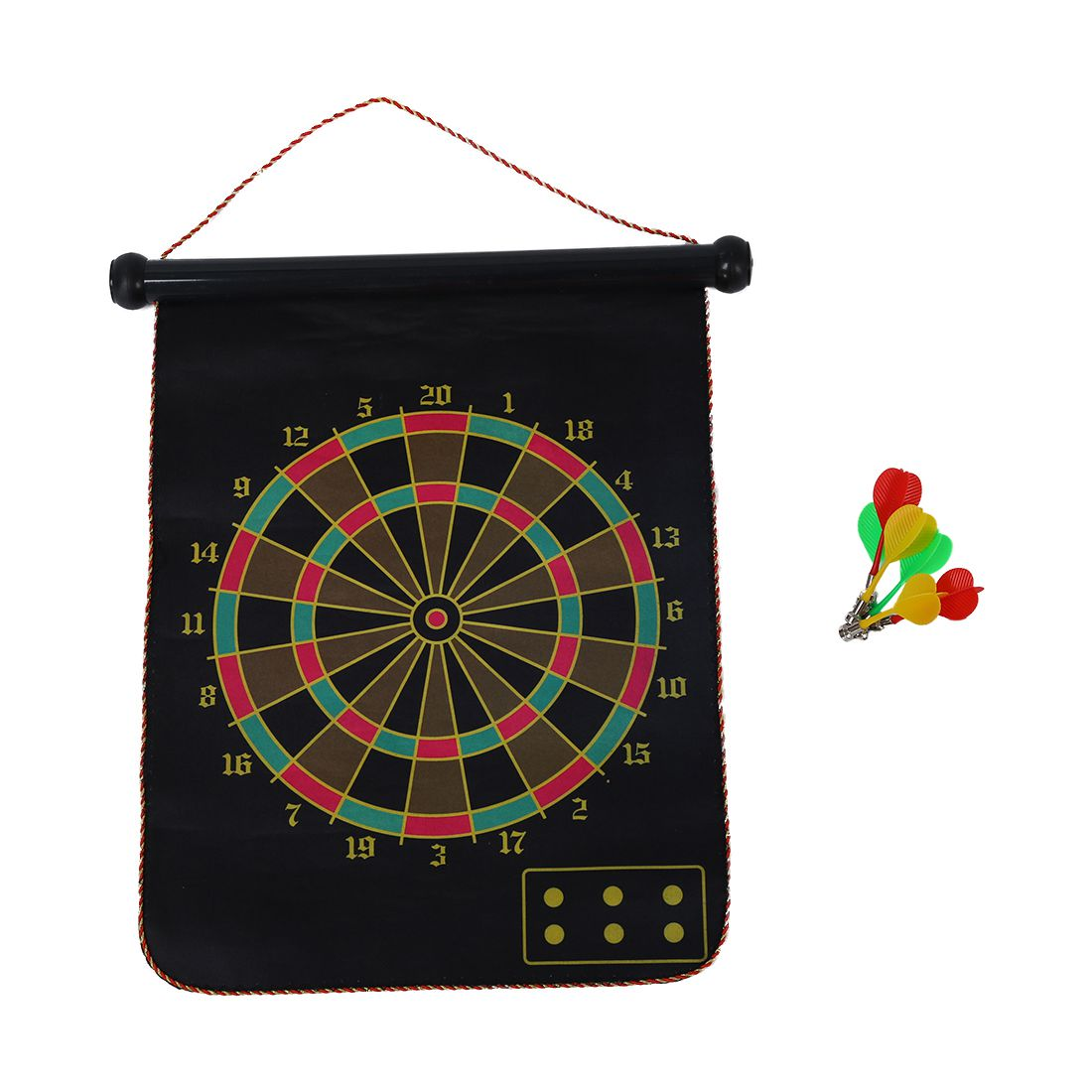 New Target darts Double-sided magnetic suspended with 6 magnetic dartsc ...