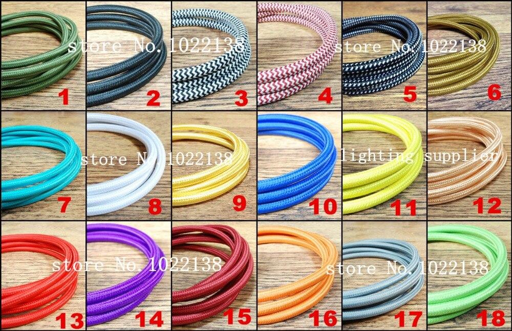 Aliexpress Com Buy 50m Lot 2x0 75 Color Vintage Wire