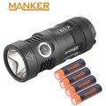 Manker MK41 HI 1500 люменов Cree XHP35 HI светодиодный фонарик компактный прожектор + 4x750 мА · ч перезаряжаемые 14500 батареи для охоты LED