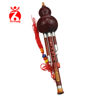 Chinese Traditional Instrument Hulusi Yunnan Rosewood Gourd Cucurbit Flute Musical Instrument Rosewood Pipe Key Of C Bb Tone F10