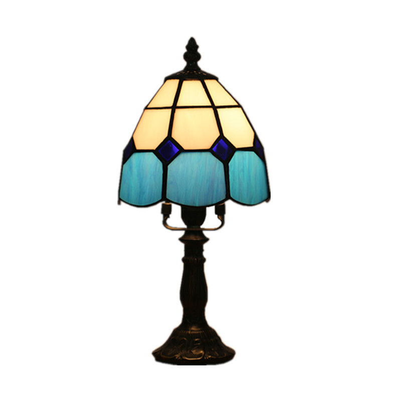 LukLoy European Retro Table Lamp Creative Mediterranean Bedroom Bedside Small Night Lamp Bar Cafe Decorated Personality Light light the mediterranean restaurant in front of the hotel cafe bar small aisle entrance hall creative pendant light df57