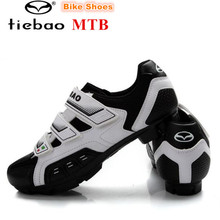 Tiebao Cycling shoes men 2018 professional MTB shoes for man bicycle Bike sneakers women Nylon-fibreglass Soles superstar shoes