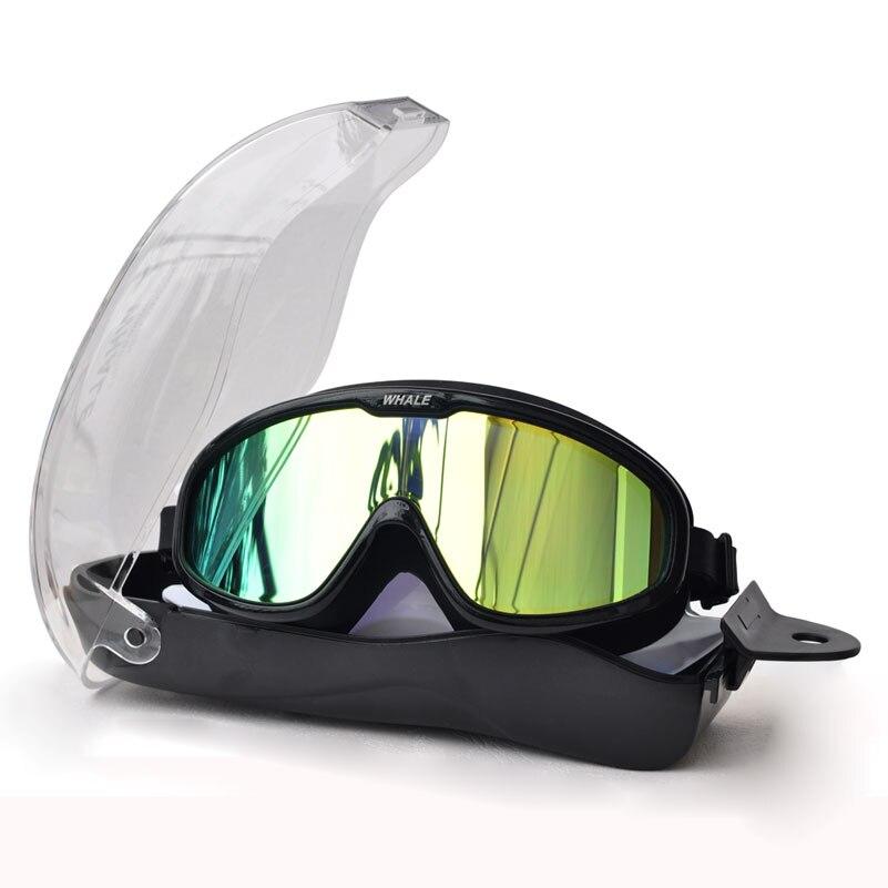 Baleia touca de Natação Profissional À Prova D' Água macia de silicone das mulheres dos homens óculos de natação Óculos Anti-Fog UV óculos de natação para homens mulheres
