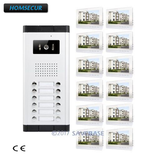 HOMSECUR 10.1 Apartment Video Secure Doorbell Intercom with IR Camera for Secure Home