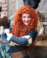 xiuli 000816 Pixar MERIDA BRAVE Movie Disguise women orange long curly full cosplay Wig