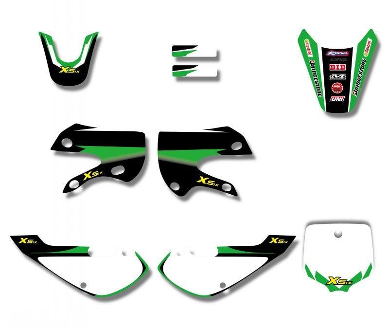 H2CNC GRAPHICS & BACKGROUND DECAL STICKER Kits For Kawasaki KLX110 KLX 110 KX65 KX 65 Suzuki DRZ110 DRZ 110 Pit Dirt Bike