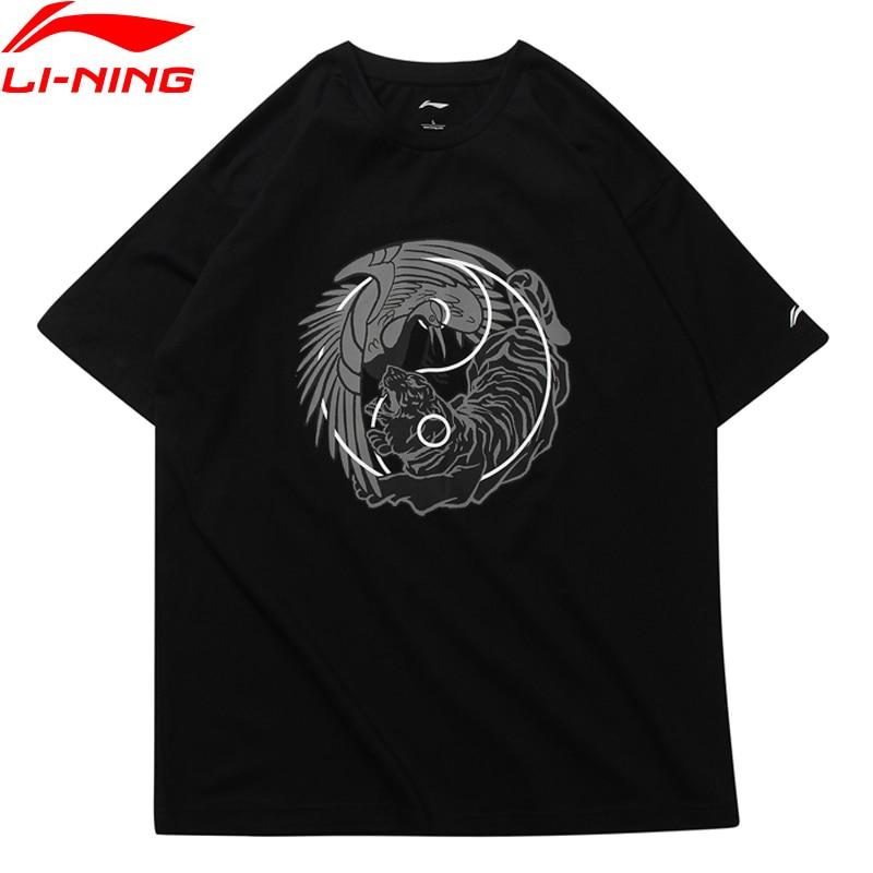 Li-Ning Men T-Shirt NYFW LI-NING Tai Chi PRINT TEE Regular Fit Cotton Polyester LiNing Sports Tee AHSN691 MTS2729 свитшот print bar tai chi