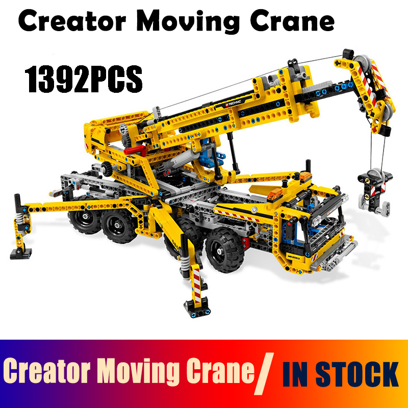 Compatible with Lego Technic 8053 20040 1392pcs Creator Moving Crane Set building blocks Figure Bricks toys for children compatible with lego ninjagoes 70596 06039 blocks ninjago figure samurai x cave chaos toys for children building blocks