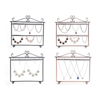 Mordoa Wrought Iron Jewelry Display Shelf Earrings Holder Stud Accessories Storage Rack Jewelry Necklace Pendant Display