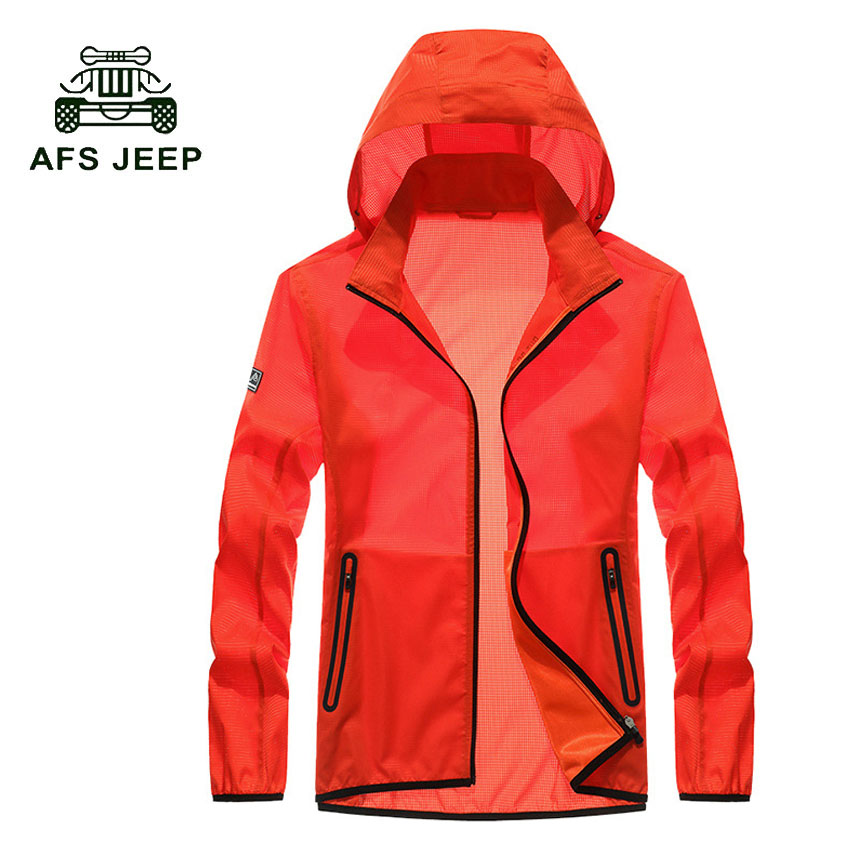 AFS JEEP New Spring Sun protection font b clothing b font men jacket ultra light breathable