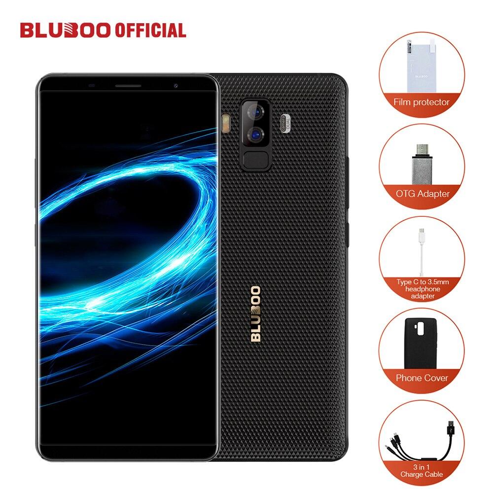 BLUBOO S3 18:9 FHD + Smartphone 6,0 ''MTK6750T Octa Core 4 GB RAM 64 GB ROM del teléfono móvil 8500 mah 21MP + 5MP Dual Rear cámaras NFC OTG