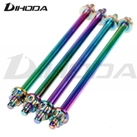 Mid Axis Extension Multicolor M12x290mm Front Wheel Axle For Suzuki Honda Yamaha RSZ Motorcycle Electric Car