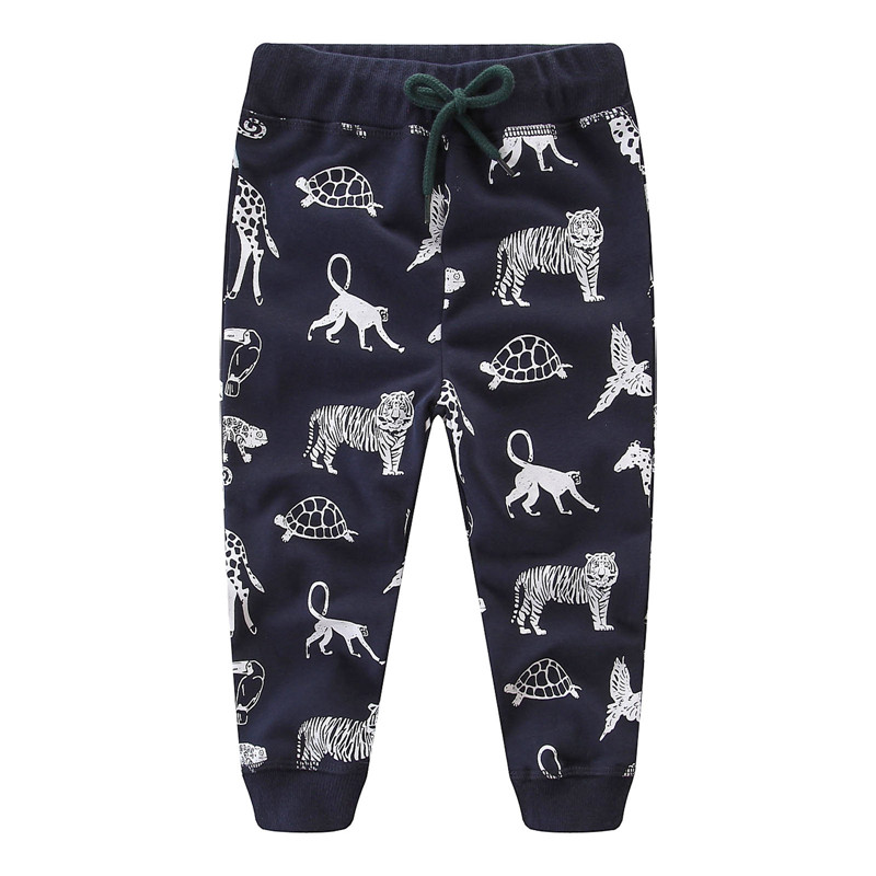 Jumping meters cartoon sweatpants for children with printed some cute animals kids new designed autumn pants