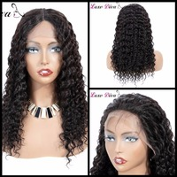 LUXE DIVA Brazilian Deep Wave Hair Wig Lace Front Human Hair Wigs 360 Lace Frontal Wig With Baby Hair Short Remy For Black Women