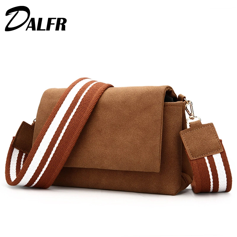 DALFR Wome PU Leather Shoulder Bag Designer Crossbody Bag Fashion Women Messenger Bags with Colorful Strap colorful pu leather strap for bag accessories handle with metal clasp for diy purse 10pcs lot