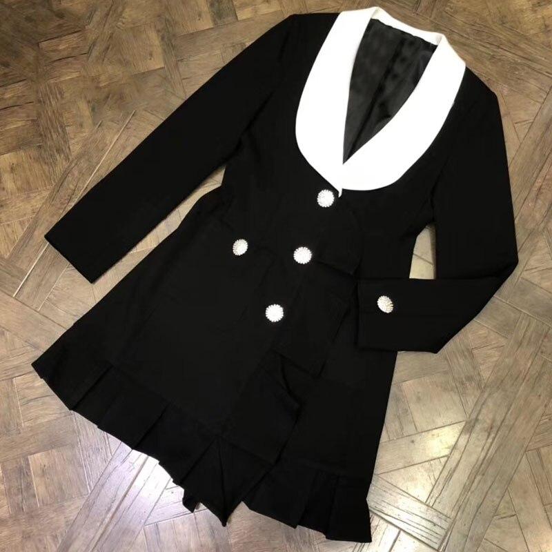 Для женщин длинная куртка пальто осень весна 2018 верхняя одежда с длинными рукавами Для женщин Мода Черная курточка