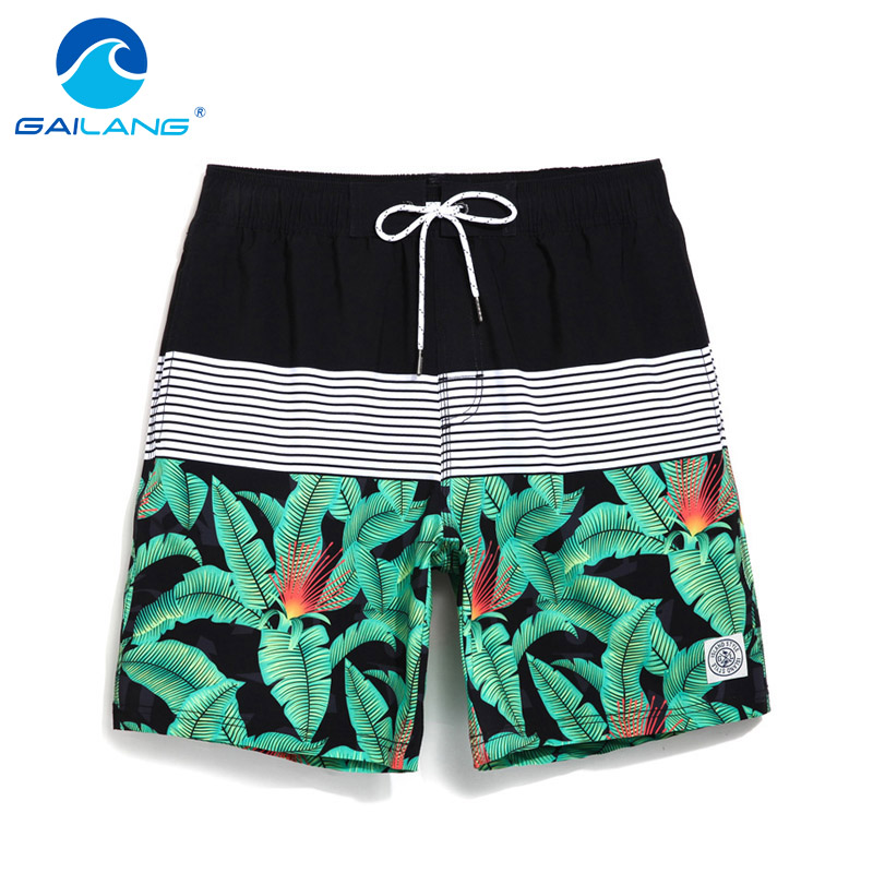Gailang Brand Men Beach Shorts Board Boxer Trunks Short Casual Quick Drying Bermuda Short Bottoms Pants Mens Swimwear Swimsuits Can Be Repeatedly Remolded. Men's Clothing