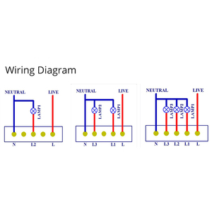 Image 2 - 미국 표준 유형 120 wifi 스마트 스위치 조명 제어 유리 패널 터치 컨트롤 ewelink app alexa echo google 홈으로 작동