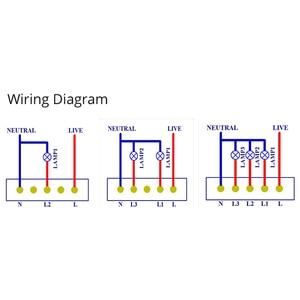 Image 2 - Eua tipo padrão 120 wifi inteligente interruptor de luz painel vidro controle toque ewelink app trabalho com alexa echo google casa