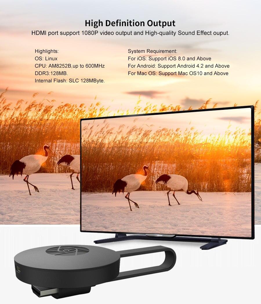 10 stück MiraScreen G2 TV-Stick Dongle Anycast Crome Guss HDMI WiFi Anzeige...