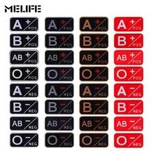 Спортивные черные сувениры 3D ПВХ A+ B+ AB+ O+ Положительный A-B-AB-O-отрицательный Тип крови группа патч тактический боевой значок