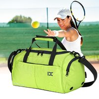 Large Capacity Outdoor Sports Bag Traveling Luggage Handbags Shoulder Bag Waterproof Polyester For Fitness Training Gym