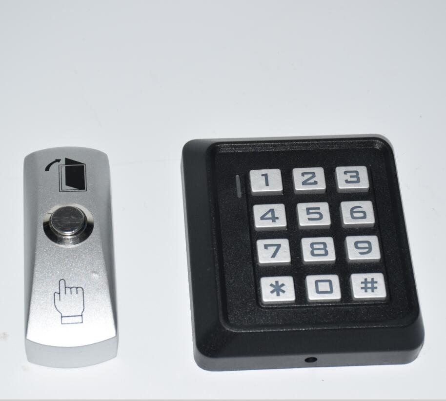 With Exit Button DOOR LOCK GATE OPENER Backlit RFID Keypad  Reader Standalone Access Control Access Controller 125KHz