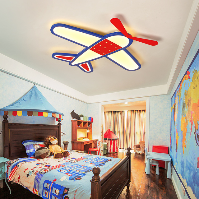 US $104.0 20% OFF|New Cartoon plane Led Ceiling chandelier Modern  chandelier for Children Bedroom lustre Home Indoor Lighting Decoration  Fixture-in ...