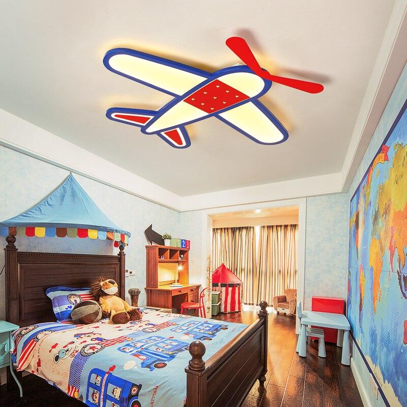 Nouveau dessin animé avion Led plafond lustre moderne lustre pour enfants chambre lustre maison éclairage intérieur décoration luminaire