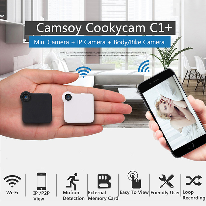C1+ WIFI P2P Mini Camera HD 720P CAMSOY C1 Wearable IP Camera Motion Sensor Bike Body Micro DV DVR Magnetic Clip Voice Recorder mini dv md80 dvr video camera 720p hd dvr sport outdoors with an audio support and clip